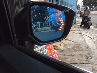 LED SIGN MIRROR MITSUBISHI XPANDER